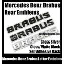 Mercedes Benz Brabus Rear Trunk Letter Emblems Badges Gloss Matte Black Chrome Silver Stickers