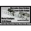 Mercedes Benz Brabus Metal Chrome Silver Front Grille Badges Emblems Alloy