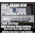 Mercedes Benz AMG 2008-2014 Letter Emblems Badges Chrome Silver Rear Trunk Stickers CLS GL GLK SL ML Class A 000 817 04 14 A0008170414