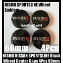 NISMO Sportsline Wheel Center Caps 60mm 4Pcs Hubs Roundels Emblems Badges Fairlady Sentra Murano Maxima Altima Aluminum Metal