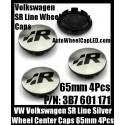 VW Volkswagen SR Line Chrome Silver Wheel Center Caps 65mm 3B7 601 171 4Pcs Set Aluminum Alloy Golf Bora Jetta Polo Passat 3B7601171