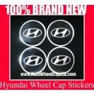 Hyundai Wheel Center Cap Tin Sticker Aluminium DIE CUT 55mm