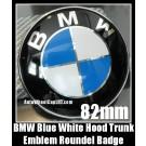BMW F01 Blue White Hood Trunk 82mm Emblem Roundel 730d 740i 750i