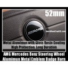 AMG Mercedes Benz Steering Wheel Emblem Badge Horn E63 W212 W211 W210 A-Type 52mm Aluminum with Gloss Resin