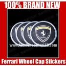 Ferrari Wheel Center Cap Tin Sticker Aluminum DIE CUT 55mm
