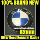 BMW OEM Trunk Hood Trunk Emblem Roundel 3D 82mm Original Blue/White Replacement