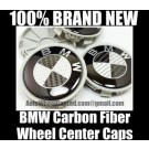 BMW Real Carbon Fiber Wheel Roundel Center Caps