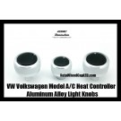 VW Volkswagen Car Air Conditioner Heat Control Bright Silver Knobs Aluminum Alloy ABS Bright Interior Light