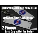 Saab Carpet Tag Badge 3D Carve Mat Emblem Aluminum Alloy Metal 9-3 9-5 9-7 Sweden
