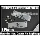 Mercedes Benz Carpet Tag Badge 3D Carve Mat Emblem Aluminum Alloy Metal