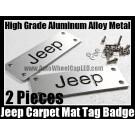 Jeep Carpet Tag Badge 3D Carve Mat Emblem Aluminum Alloy Metal