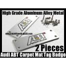 Audi ABT Sportsline Carpet Tag Badge 3D Carve Mat Emblem Aluminum Alloy Metal