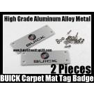 BUICK Carpet Tag Badge 3D Carve Mat Emblem Aluminum Alloy Metal