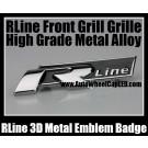 RLine VW Volkswagen Golf 3D Metal Emblem Badge Auto Car for all Model Front Grill Grille High Grade