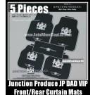 Junction Produce JP VIP DAD Auto Carpets Mats Luxury Japan Devil Black For Car Floor 5 Pieces Full Set 5Kg Weight