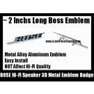 BOSE Hi-Fi Speaker 3D Metal Aluminum Emblem Badge Auto Car (2 Pieces)