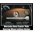 Mercedes Benz Auto Car Bright Crystal Steering Wheel Luxury Horn Badge Emblem Plate Stickers