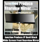 Junction Produce JP Devil Black Wide Screen Front Rearview Mirror Clear Image Protect Eyes Reduce Light Reflect