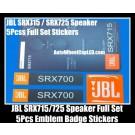 JBL SRX715 SRX725 Hi-Fi Speaker 5Pcs Full Set Emblems Badges Stickers Grille Labels SRX700 Series