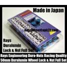 Rays Volk Racing Metallic Blue Lock Lug Dura Nuts Duralumin Wheels Rims 50mm M12x P1.5 P1.25 Pitch Rims Forged Japan Engineering