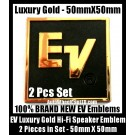 Gold EV Audio Hi-Fi Speaker Luxury Logo Color Emblem Badge Label 2 Pieces Professional High Quality
