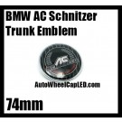 BMW AC Schnitzer Trunk Emblem Roundel Badge 74mm 2Pins Drivers Collection
