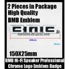 BMB Hi-Fi Speaker Logo Emblem Badge Label Chrome (2 Pieces) for All Model and BMB 450