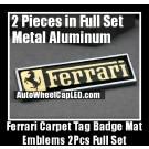 Ferrari Carpet Tag Badge Mat Emblem Aluminum Alloy Metal F40 F55 308 328 348 355 360 458