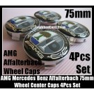 AMG Mercedes Benz Affalterbach Color Apple Tree Wheel Center Caps 75mm CLK ML GL SL CL E C 4Pcs Set