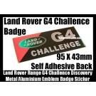Land Rover Discovery G4 Challenge Aluminum Alloy Emblem Badges Sticker Range Rover Sport Supercharged LR2 LR3 LR4