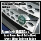 Land Rover Green Oval Front Grille Hood Emblem Badge 104X53mm Range Vogue Sport Evoque Discovery Freelander Supercharged LR2 LR3 LR4
