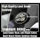 Land Rover Black Oval Rear Trunk Emblem Badge Left/Right Sides 84X42mm Range Vogue Sport Evoque Discovery Freelander Supercharged LR2 LR3 LR4