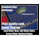 Land Rover Green Oval Rear Trunk Emblem Badge Left/Right Sides 84X42mm Range Vogue Sport Evoque Discovery Freelander Supercharged LR2 LR3 LR4
