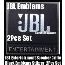 JBL Entertainment Hi-Fi Speakers Black Logo Emblems Badges Grille Stickers 2Pcs Set High-Grade Professional