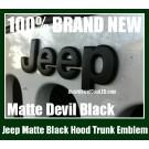 Jeep Matte Devil Black Metal Hood Truck Emblem Badge Front Rear Wrangler Grand Cherokee Stickers