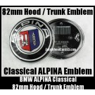 BMW ALPINA 82mm Hood Trunk Emblems Badge Roundel Bonnet Boot Aluminium Alloy 2Pins