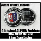 BMW ALPINA Trunk Boot Emblem 74mm Badge 2Pins Aluminium Alloy