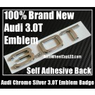 Audi 3.0T Letters Rear Trunk Chrome Silver Emblems Badges Quattro A3 A4 A5 A6 A7 A8 Q3 Q5 Q7 TT A4L A6L
