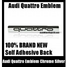 Audi Quattro Rear Trunk Black Chrome Silver Emblem Badge 3.0T 2.0T A3 A4 A5 A6 A7 A8 Q3 Q5 Q7 TT A4L A6L