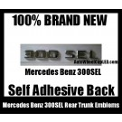 Mercedes Benz 300SEL 300 SEL Rear Trunk Emblems Chrome Silver Badge Letters Stickers OEM Replacement