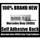 Mercedes Benz 500SEL 500 SEL Rear Trunk Emblems Chrome Silver Badge Letters Stickers OEM Replacement
