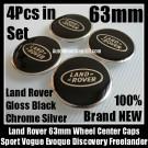 Land Rover Black Wheel Center Caps 63mm Vogue Sport Evoque Discovery Freelander LR2 LR3 LR4 4Pcs Set