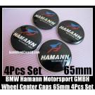 BMW Hamann Motorsport GMBH Black Wheel Center Caps Stickers 65mm Blue Red Bird 4Pcs Set Aluminum Metal Curve