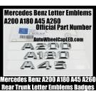 Mercedes Benz 2015 2016 A200 A180 A45 A260 Letters Emblems Rear Trunk Badges A-Class Chrome Silver