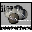 NISMO NISSAN Wheel Center Caps Emblems Stickers 56.5mm Motorsports International Fairlady Sentra Murano Maxima Altima 4Pcs Set
