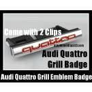 Audi Quattro Front Grill Badge Emblem Red Chrome Silver A3 A4 A5 A6 A7 A8 Q3 Q5 Q7 TT S3 S4 S5 S6 SLine
