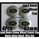 Land Rover Matte Silver Black Wheel Center Caps 63mm Vogue Sport Evoque Discovery Freelander LR2 LR3 LR4 4Pcs Set
