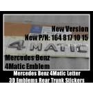 Mercedes Benz 4Matic New Version Chrome Silver Emblems Letters Rear Trunk Stickers GL GLK SL ML Class BLUETEC P/N A 164 817 10 15