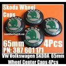 VW Volkswagen Skoda 65mm Wheel Center Emblems Caps 3B7 601 171 Golf Bora Jetta Polo Passat 4Pcs Set 3B7601171 OCTAVIA SUPERB FABIA BK