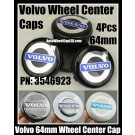 Volvo 64mm Black Chrome Silver Blue Wheel Center Emblems Caps Roundels 3546923 4Pcs C30 C70 S40 S60 S70 S80 S90 V70 XC60 XC90 XC90